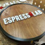espresso_lab ışıklı tabela