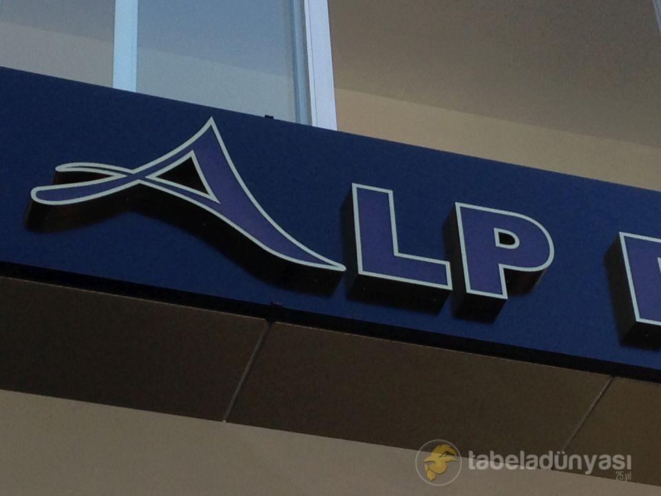 Alp Perde Kutu Harf Tabela