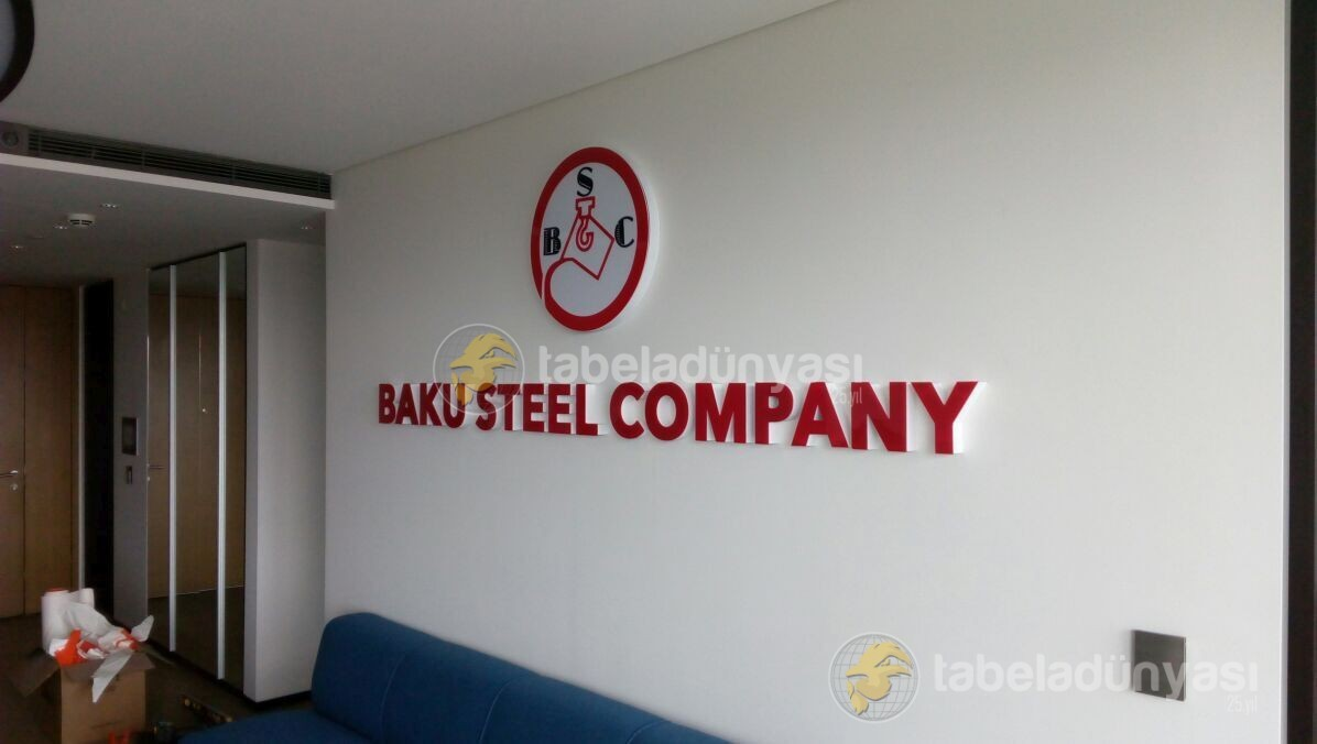 baku steel company kutu harf tabela