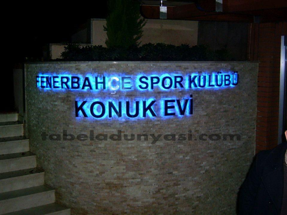 Fenerbahçe Spor Kulübü Konuk Evi Kutu Harf Tabela