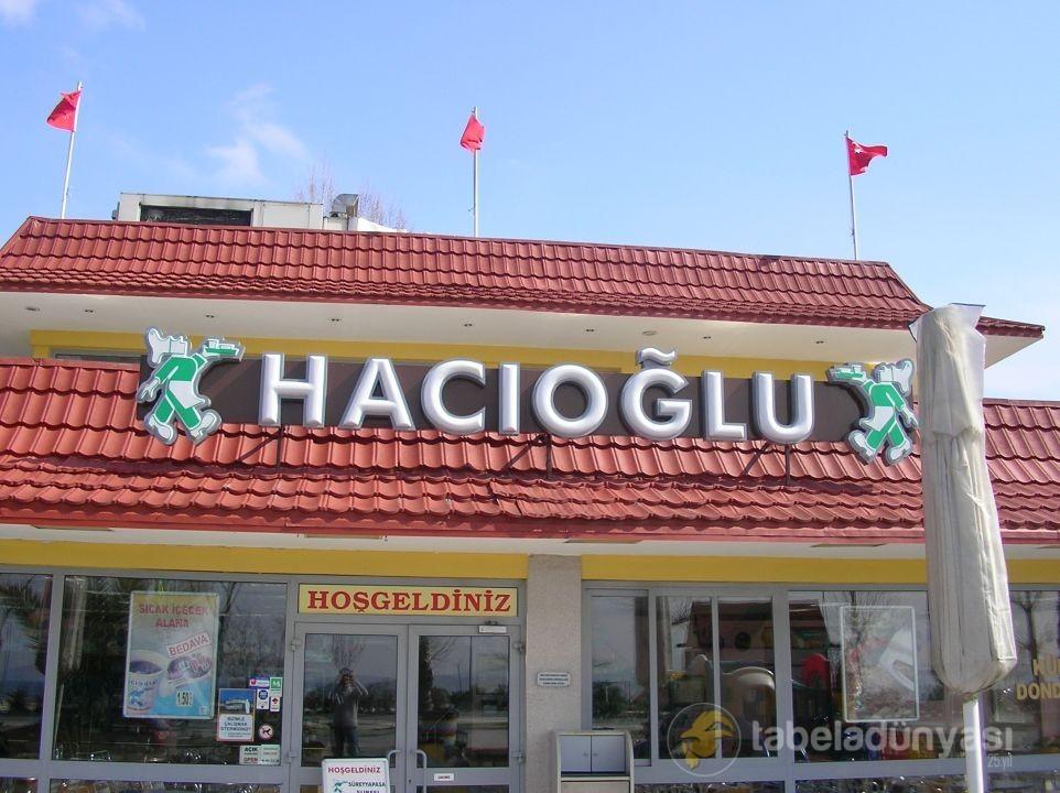 Hacıoğlu Kutu Harf tabela