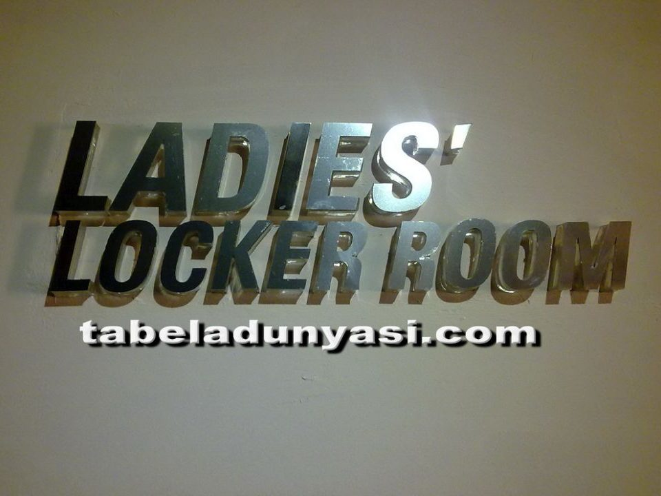 Ladeis Lokcer Room Kutu Harf Tabela