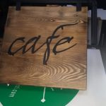 Cafe Ahsap Kesme Harf Tabela
