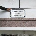Ervus Apartmanı Pleksıglass Apartman Tabelası