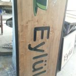 Eylul Cafe Ahsap oyma Tabela