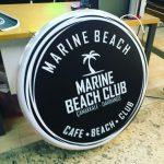 Marına Beach Cıft Taraflı Isıklı Hazır Tabela