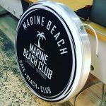 Marına Beach Isıklı Hazır Tabela