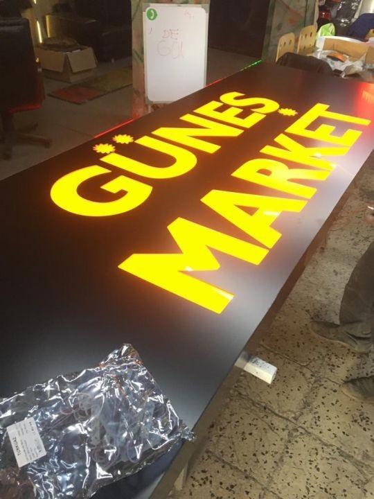 Gunes Market Isıklı Dekupe Pleksı Tabela