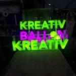 Kreatıv Balon Işıklı Pleksı Kutu Harf Tabela Uretım