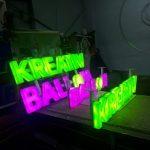 Kreatıv Balon Led Aydınlatmalı Pleksı Kutu Harf Tabela