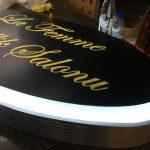 La Femme Guzellık Salonu Isıklı Elıps Hazır Tabela