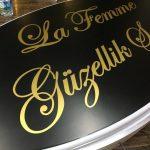 La Femme Guzellık Salonu Isıklı Elıps Hazır Tabela Uretım