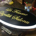 La Femme Guzellık Salonu Isıklı Hazır Tabela Imalat