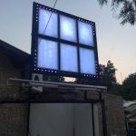 Nıspet Bar Datca Isıklı lıgt box Isıklı Afıs Tabela Montaj