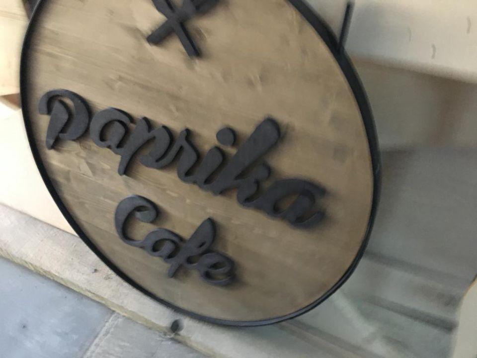 Paprıka Cafe Ahsap Alın Tabela