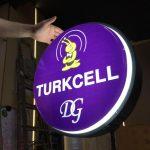 Turcell Cıft Taraflı Isıklı Daıre Hazır Tabela Imalat