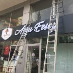 Arzu Ersoy Fılelı Sarı Krom pleksı kutu Harf Icten Led Aydınlatma Montaj