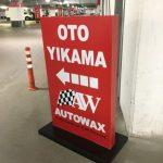 Autowax Oto Yıkama Işıklı Kanopı Tabela Montaj