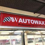 Autowax Oto Yıkama Işıklı Pleksı Tabela