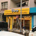 Safranbolu Lokumcusu Alumınyum Fılelı Kutu Icten Led Aydınlatmalı Tabela Montaj