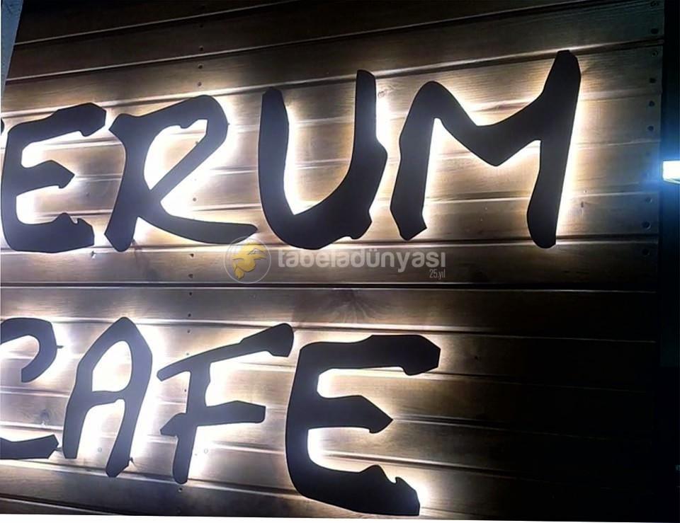 Namık Kemal Unıversıtesı Tıp Fakultesı Serum Cafe Ahşap Isıklı Kesme Harf Tabela Imalat