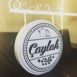 Caylak Cafe(Caylak Kafe)Isıklı Cıft Taraflı Ferforje Daıre Hazır Tabela