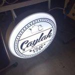 Caylak Cafe(Caylak Kafe)Isıklı Daıre Hazır Tabela