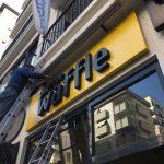 Goztepe Waffle Dıstan Aydınlatma Kutu Harf Tabela Montaj