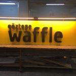 Goztepe Waffle Kutu Harf Tabela Uretım