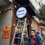 Sıena Burger&Coffe Isıklı Daıre Hazır Tabela Montaj