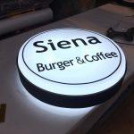 Sıena Burger&Coffe Isıklı Hazır Tabela