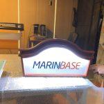 MarınBase Isıklı Fırca Boyama Ahsap Tabela