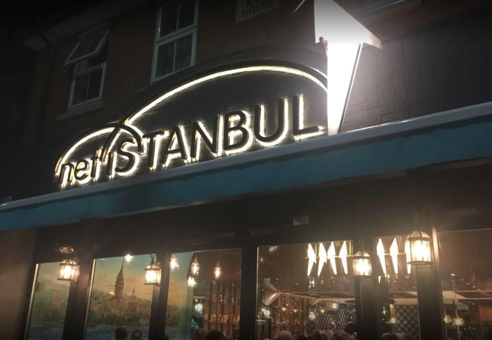 NefIstanbul Oxford Endırek Led Aydınlatma Sarı Gold Kutu Harf Tabela