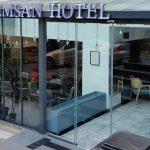 Semsan Hotel Isıklı paslanmaz krom fileli kutu harf Tabela Montaj