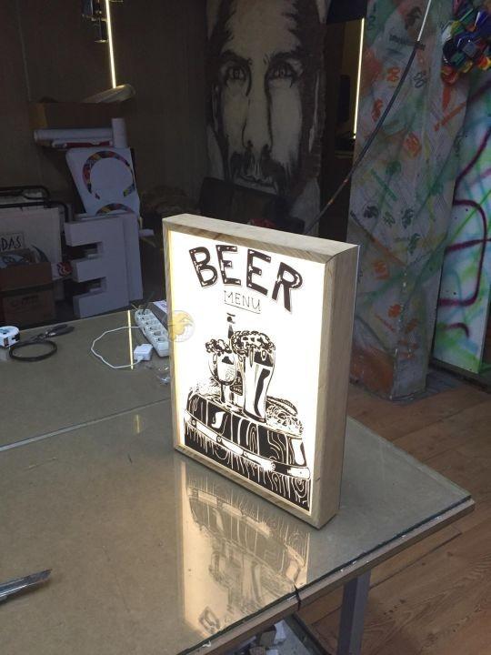 Beer Menu Mını Lıght Box Imalat