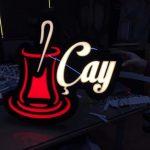 Cay Neon Etkılı Isıklı Kutu Harf Tabela Imalatı