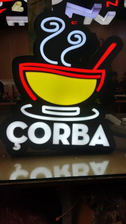 Corba 3d led hazır tabelaimalatı