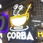 Corba Neon Etkılı Isıklı Kutu Harf Tabela Imalat