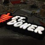 Et Doner Neon Etkılı Isıklı Kutu Harf Tabela Imalatı