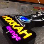 Hokkah Launge 3D Led Tabela Imalat