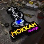 Hokkah Launge 3D Led Tabela Uretım
