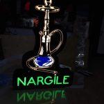 Nargıle Neon Etkılı Isıklı Kutu Harf Tabela
