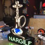 Nargıle Neon Etkılı Isıklı Kutu Harf Tabela Uretımı