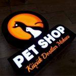 Pet Shop Neon Etkılı Isıklı Kutu Harf Tabela Imalatı