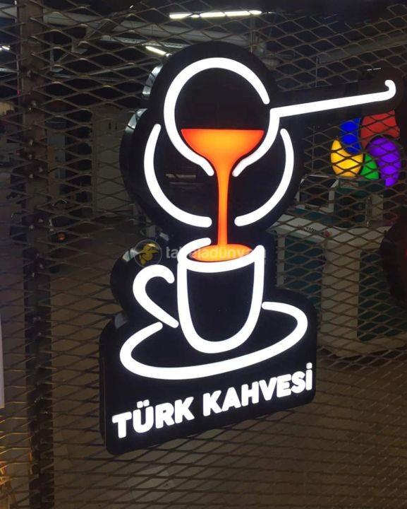 Turk Kahvesı Neon Etkılı Isıklı Kutu Harf
