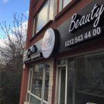 Fıgen Ata beauty Center Isıklı Kutu Harf Tabela Montaj