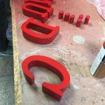 Fason Kırmızı Kutu Harf Imalatı