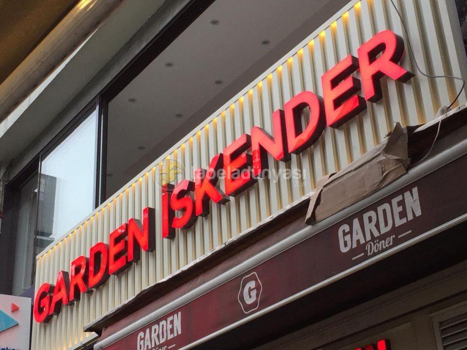 Garden Iskender Sıslı Icten Led Aydınlatma Kutu Harf Tabela Imalat