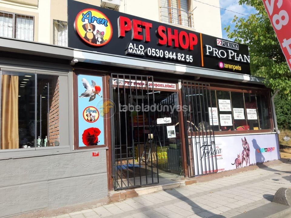 Aren Pet Shop Isıklı Kutu Harf Tabela