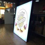 Class Waffle Dondurma Isıklı Logo Tabela Montaj